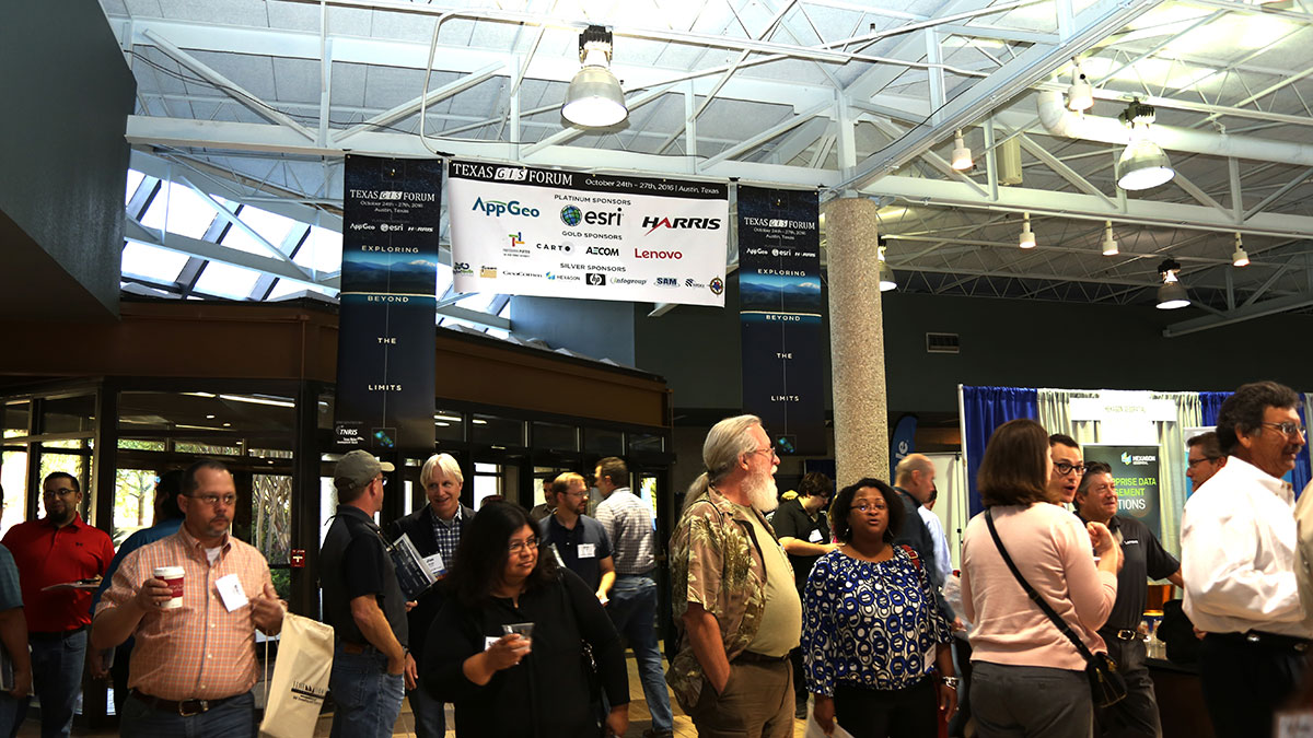 Attendees gathering in the Atrium of the Commons Center as the 2016 Conference kicks off