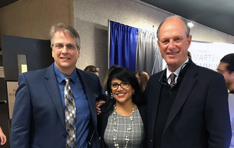 TNRIS Director Richard Wade and Deputy GIO Felicia Retiz with Robert Ballard