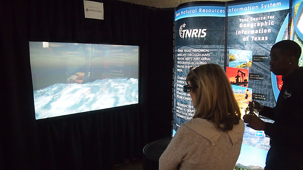TNRIS showcased 3-D Lidar at our booth.