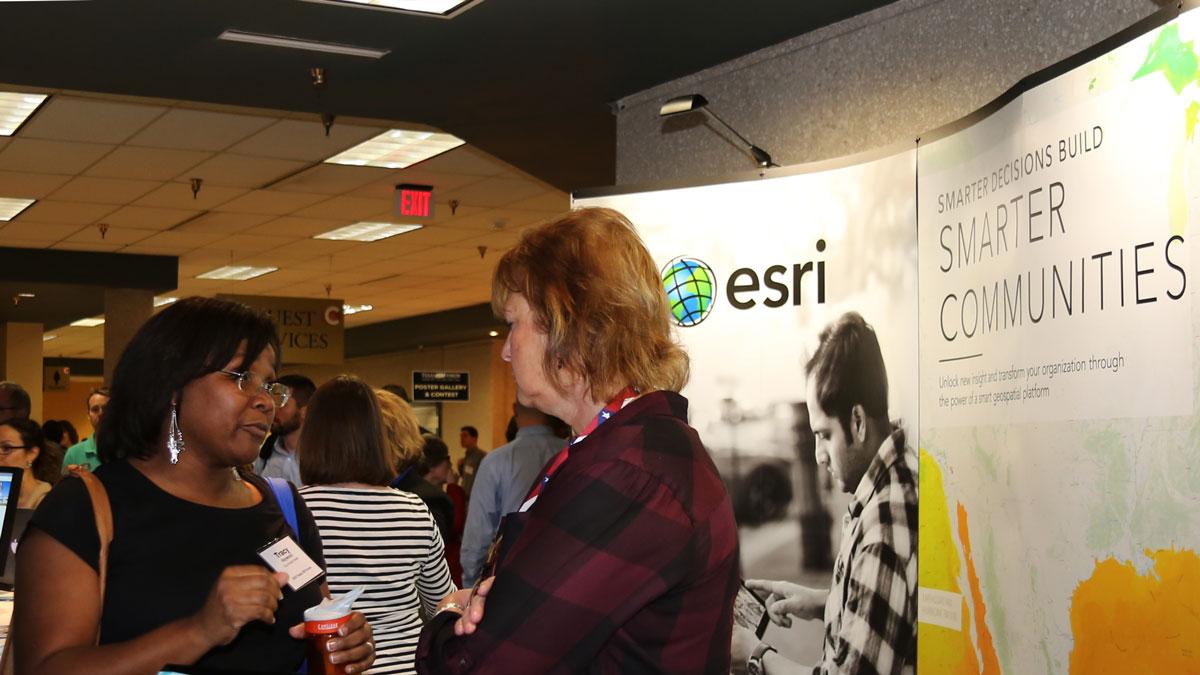 ESRI's booth