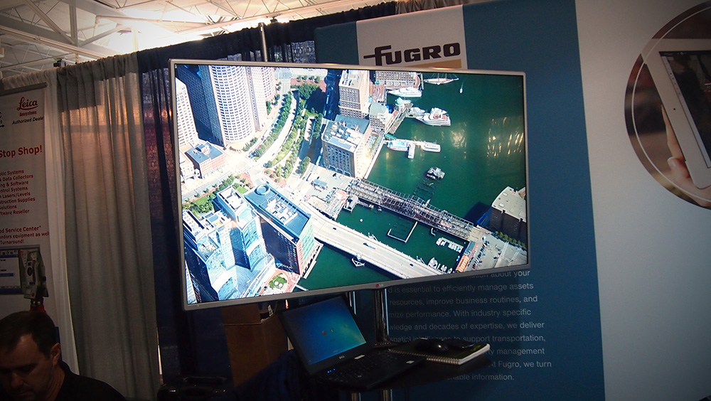 Impressive High-Resolution Aerial imagery from silver sponsor, Fugro.