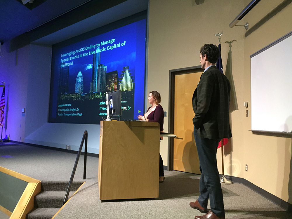 Jacquie Hrncir and John Clary from the City of Austin discuss the management of special events using ArcGIS Online