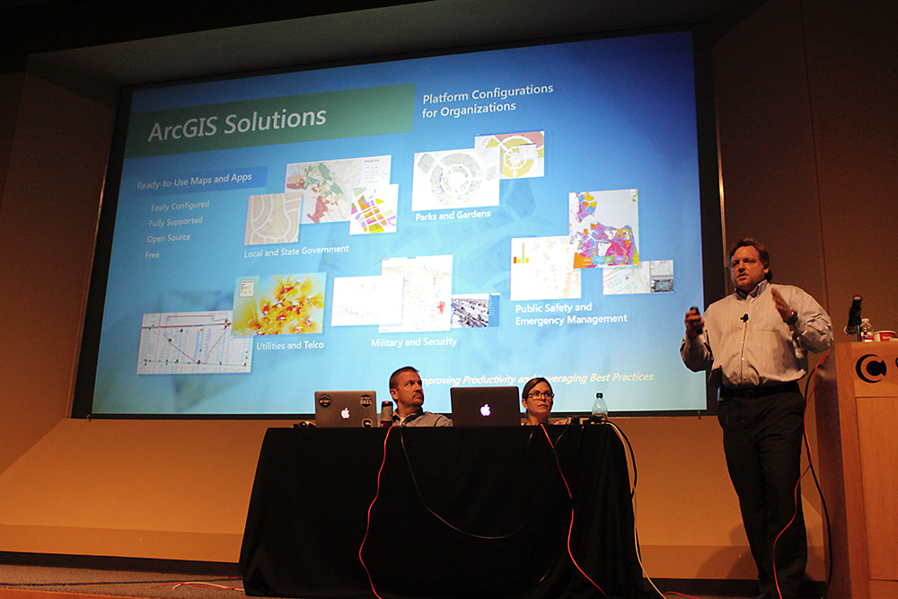 ESRI's thursday platinum sponsor demo, ArcGIS Solutions for State and Local Government.