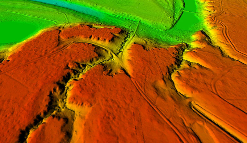 A DEM of Central Texas Lidar
