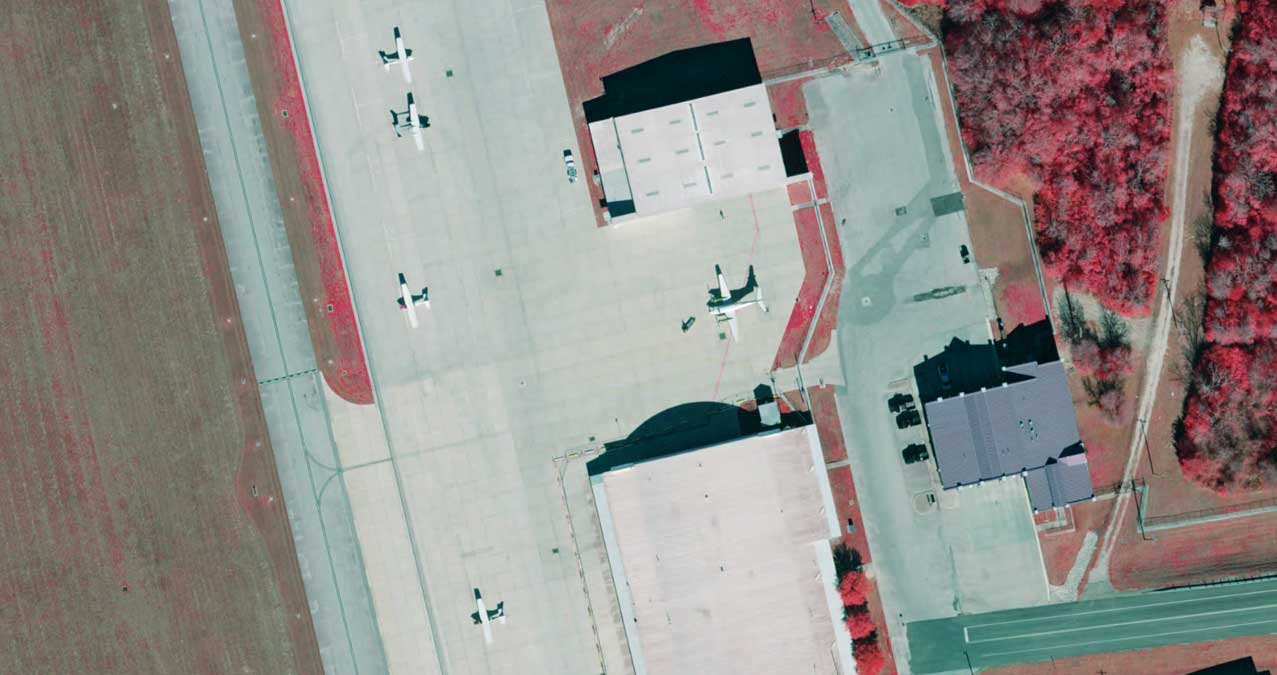 Infra Red preview of Easterwood Airport