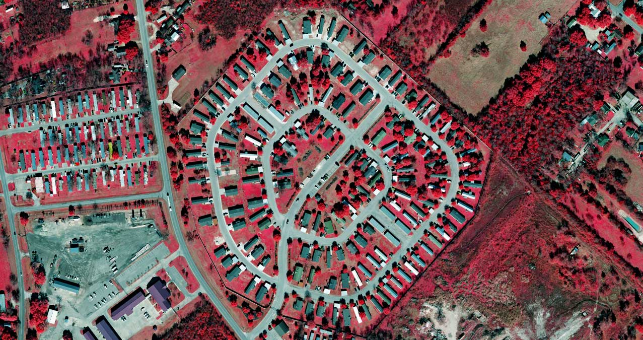 Infra Red preview of Trailer Park in Bryan