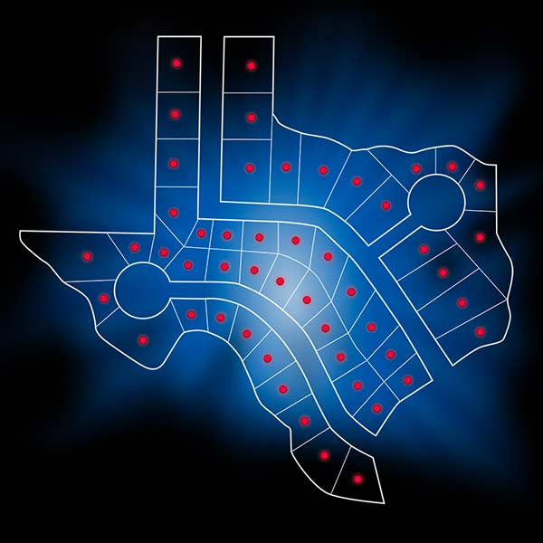Address Point Data Shapes Texas Graphic