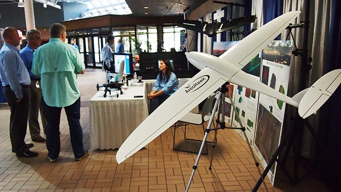 The Aerohawk at the Flightline Geographics booth