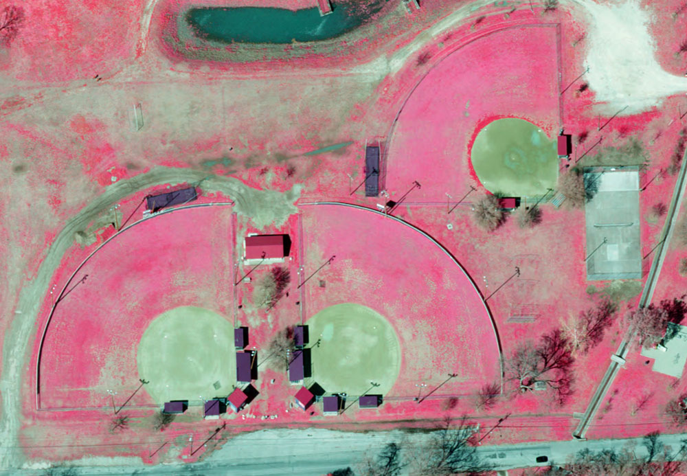 Infra Red preview of baseball fields in Georgetown