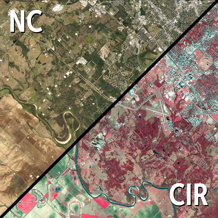 Sample of new the Brazos County Aerial Imagery