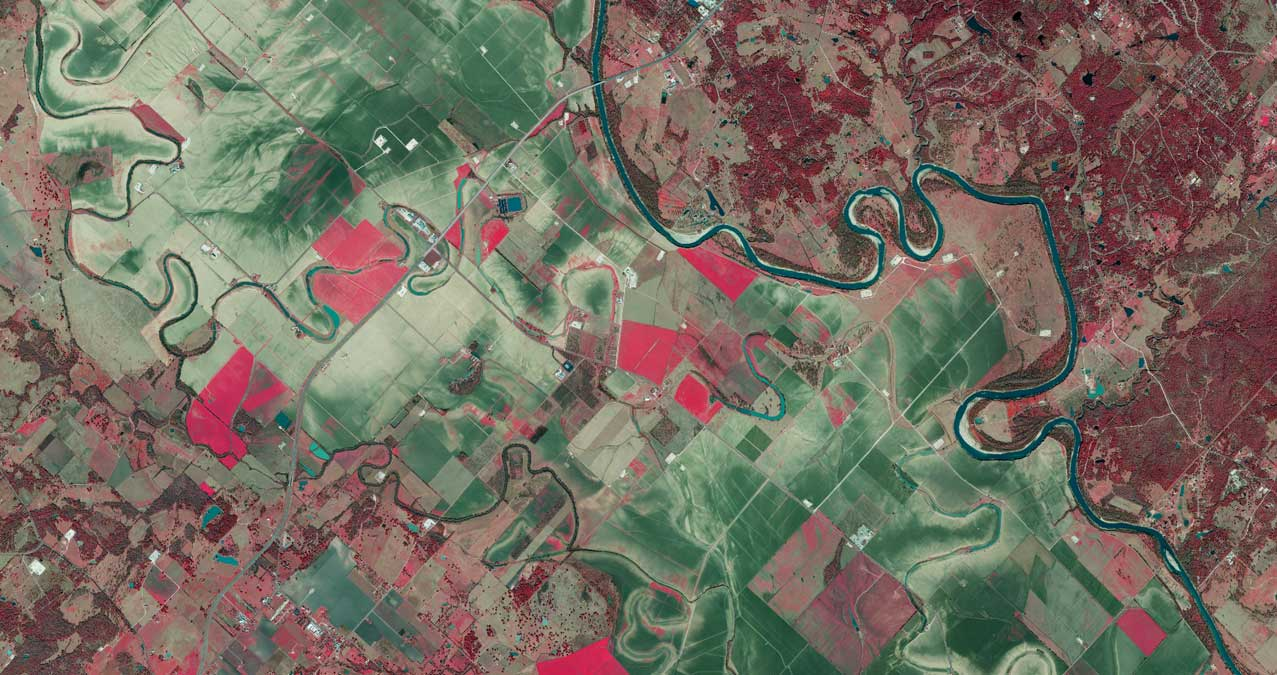 Infra Red preview of Brazos River