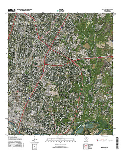 a sample of the new topo maps, east austin with imagery