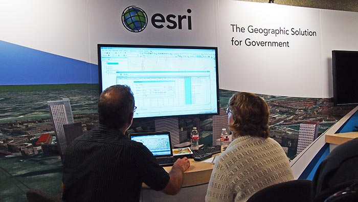 At the ESRI Booth