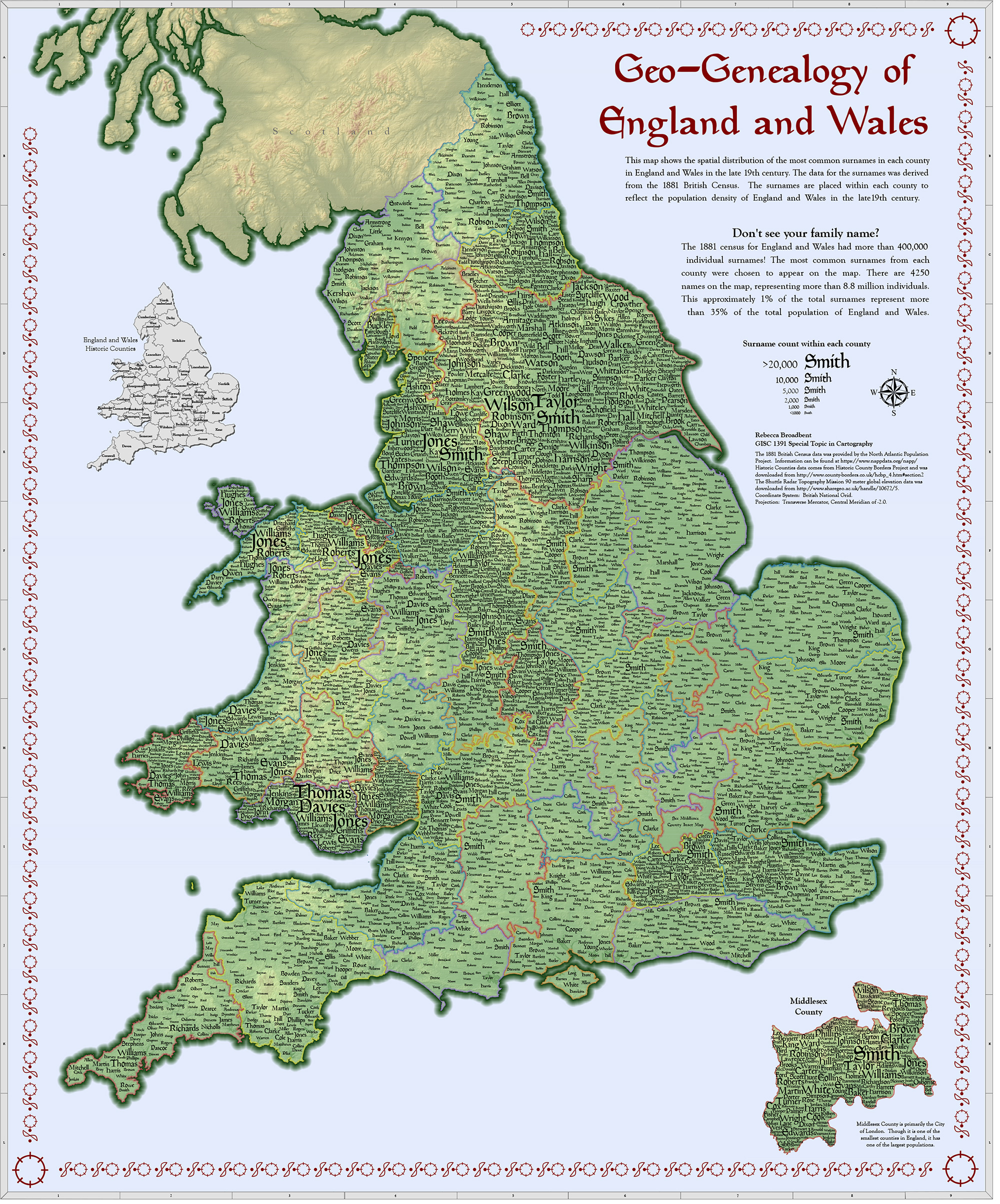 A large preview of the Geo-Genealogy of England and Wales image