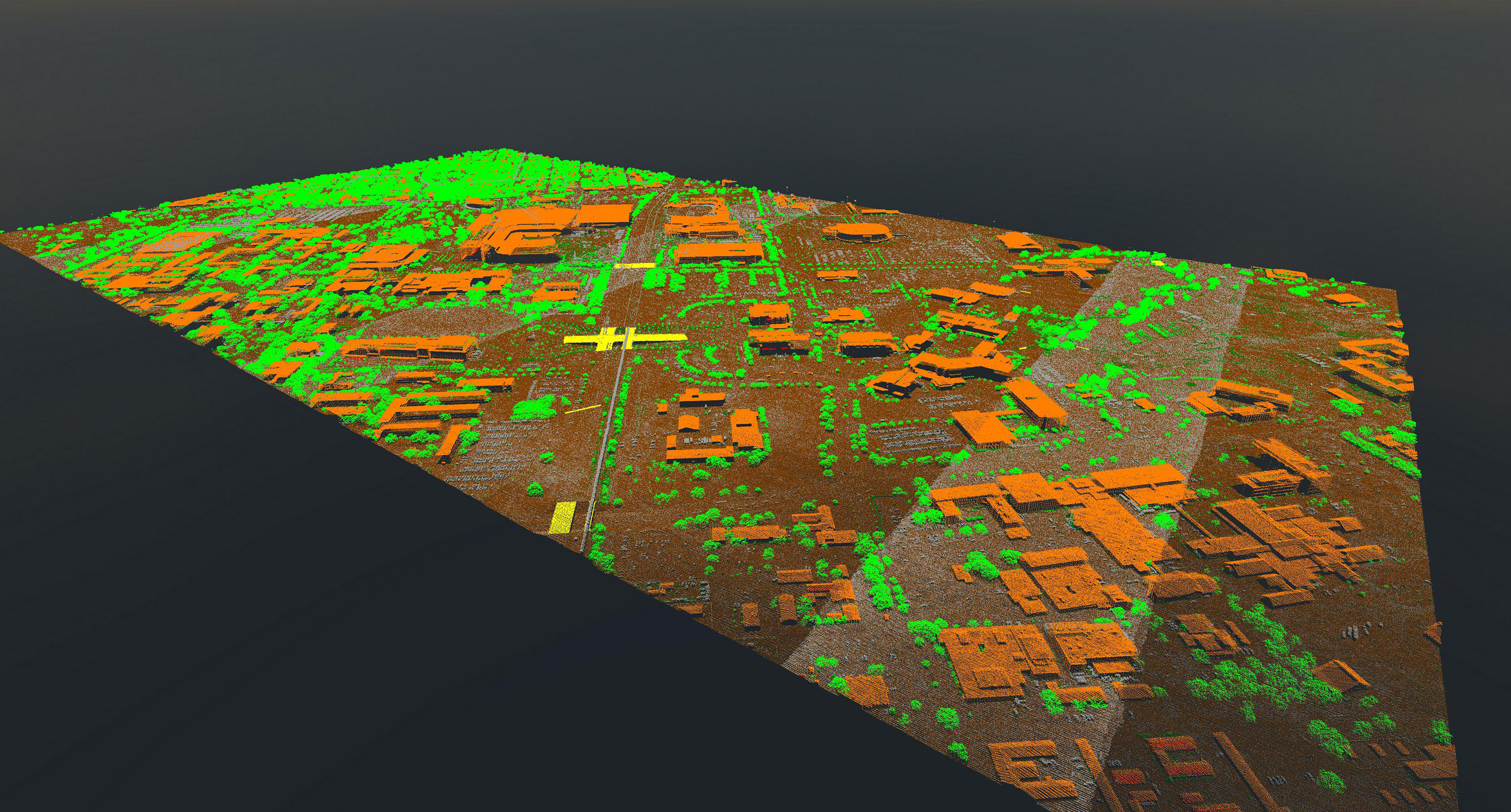Lidar Point Cloud of College Station Texas