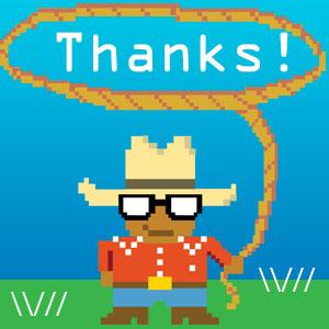 A small code wrangler saying thanks.