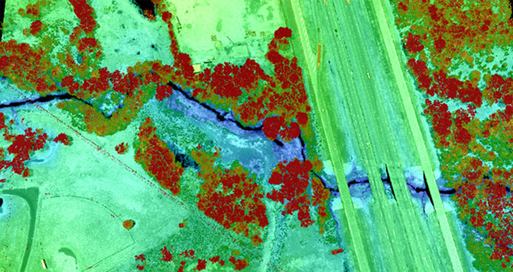 A sample of collected Lidar data