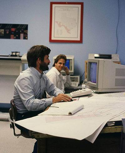 Dr. Kim Ludeke and future Texas GIO Richard Wade, circa 1990.6
