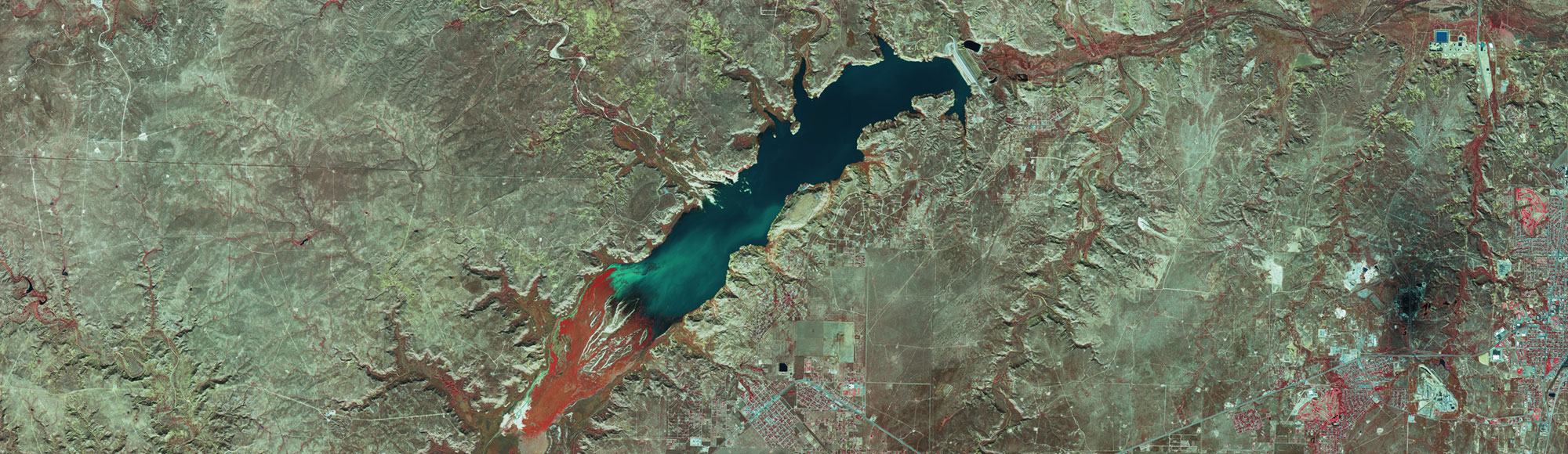 Infra Red preview of Lake Meredith
