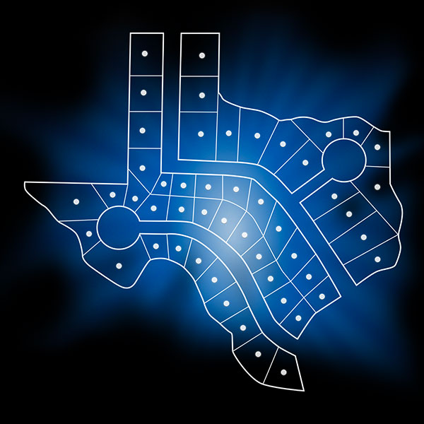 Land Parcel Data Shapes Texas Graphic
