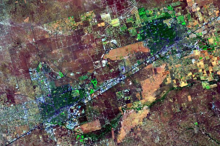 Landsat of Midland/Odessa area