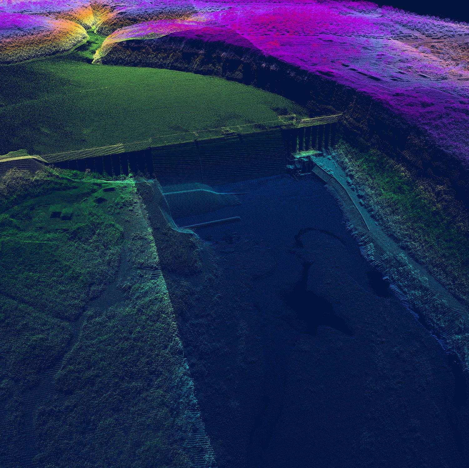 A large preview of the Morris Sheppard Dam Lidar image