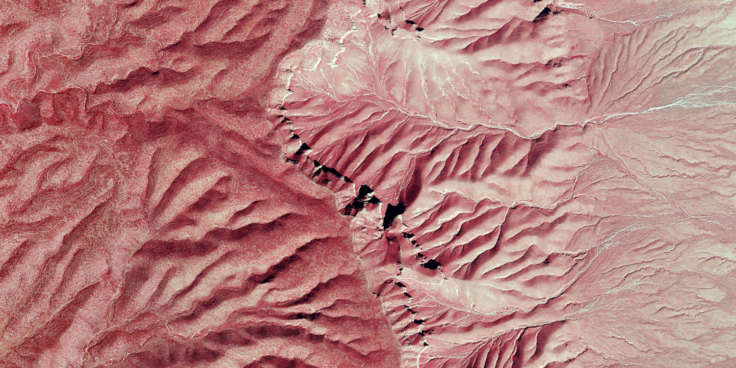 Color infra red of Culberson County