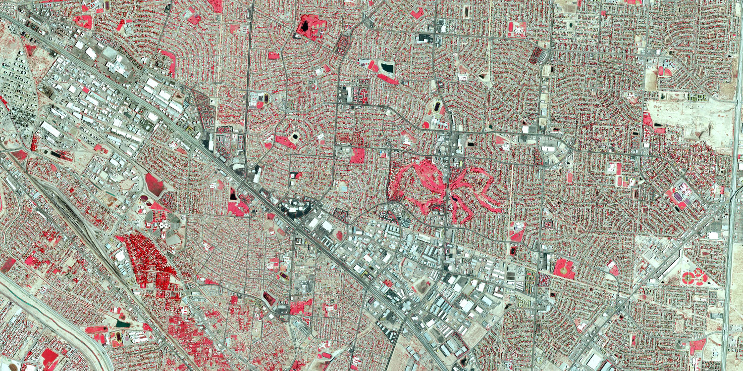 Color infra red of El Paso County