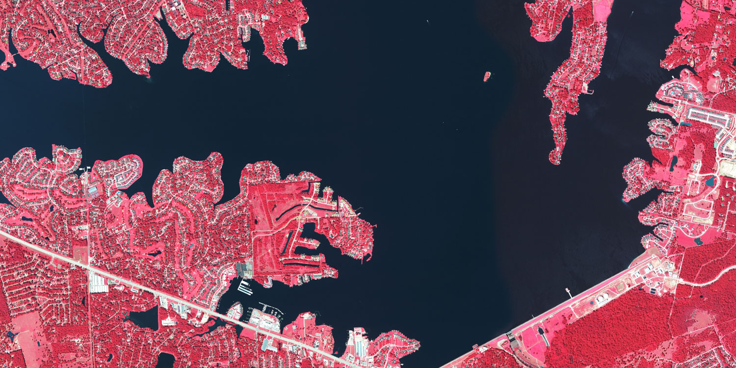 Color infra red of Harris County