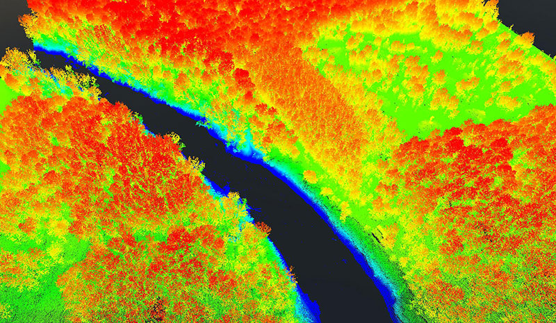 Some hill features captured by lidar