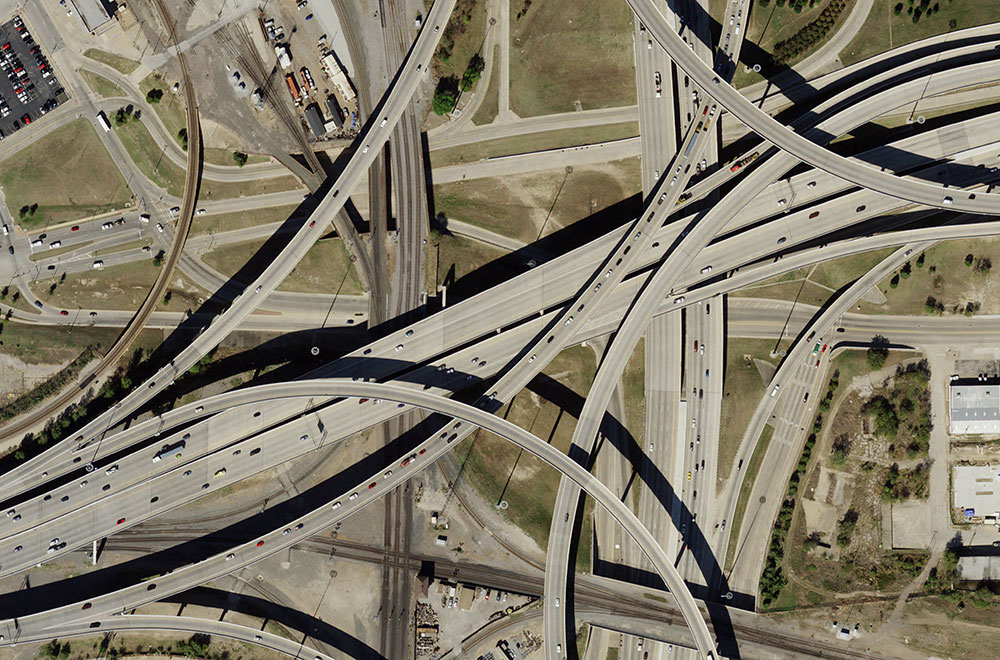 Natural Color preview of highways in DFW