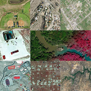 A small mosaic of aerial imagery from the project