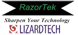 Razor-tek and Lizard Tech logo and link to website
