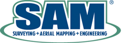 Survey Aerial and Mapping LLC logo and link to website