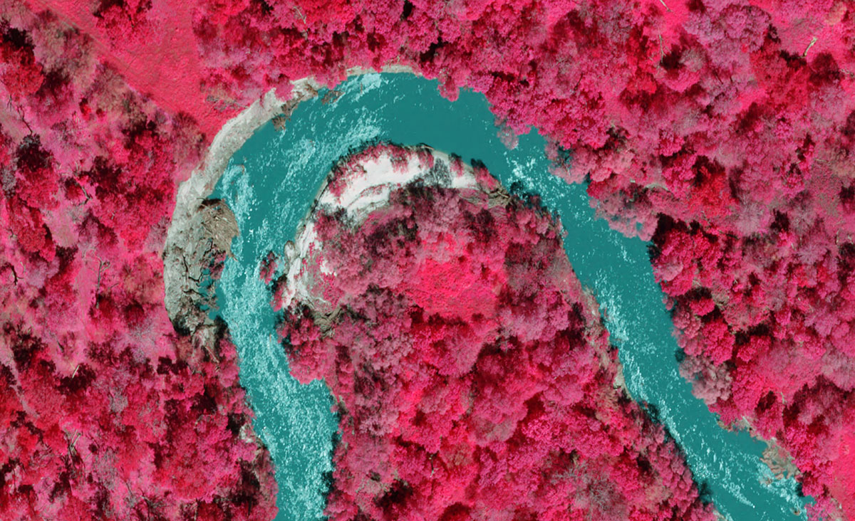 Color Infrared preview of San Antonio River