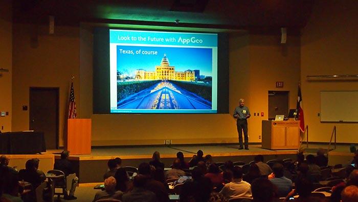Jim Scott demos AppGeo's latest tech