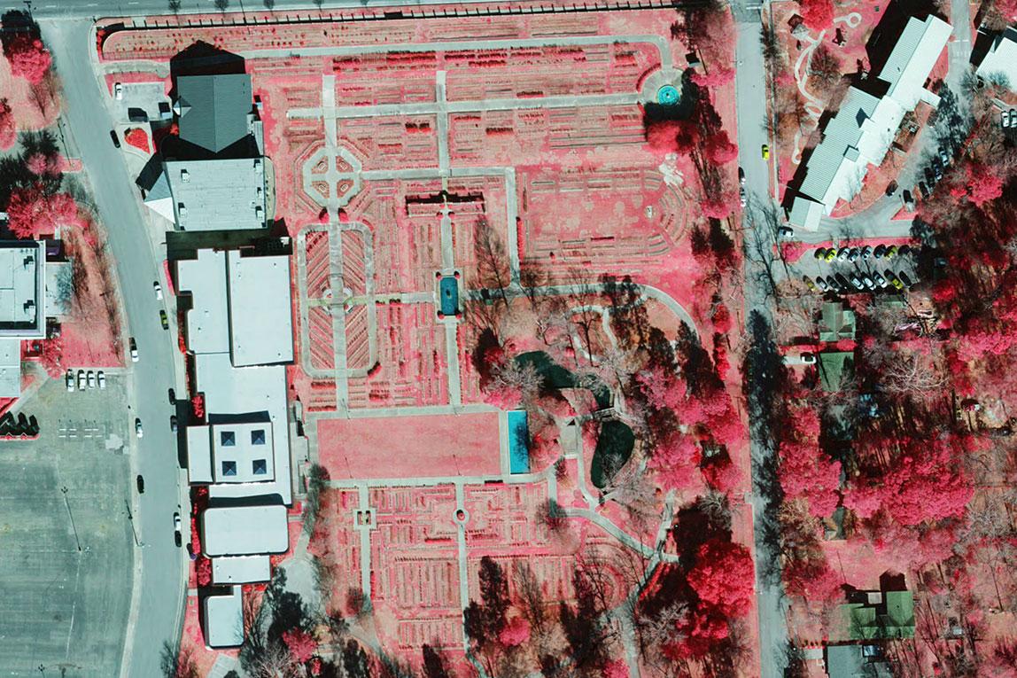 Color Infrared preview of Tyler Rose Garden