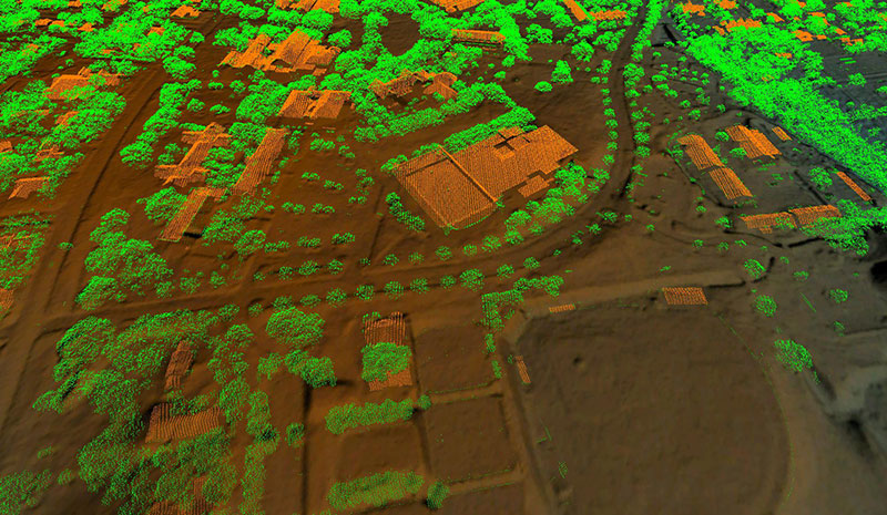 A point cloud of Southwestern University in Georgetown