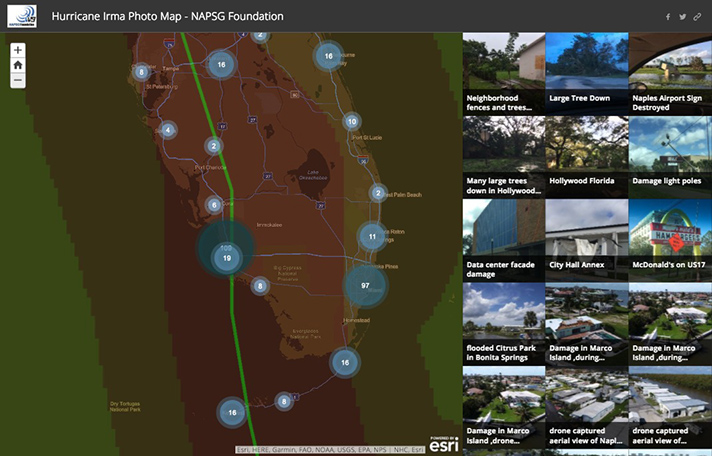 example of esri story map