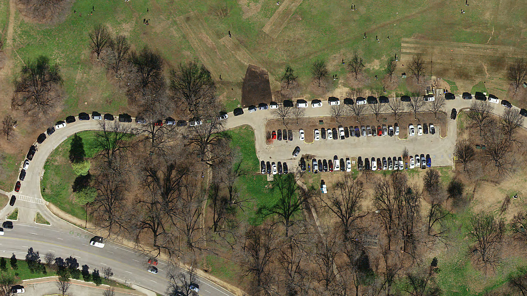 Natural Color preview of Zilker Park Parking